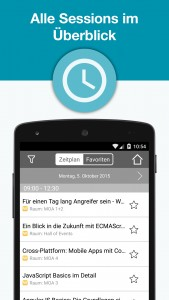 webinale Mobile App - Sessions