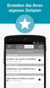 webinale Mobile App - Zeitplan