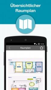 webinale Mobile App - Raumplan