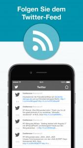 webinale Mobile App - Twitter-Feed